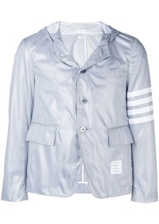 Thom Browne 4-Bar Hooded Ripstop Sport Coat