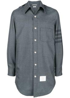 Thom Browne 4-Bar Hooded Shirt Jacket
