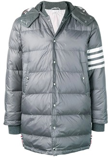Thom Browne 4-bar Matte Nylon Coat
