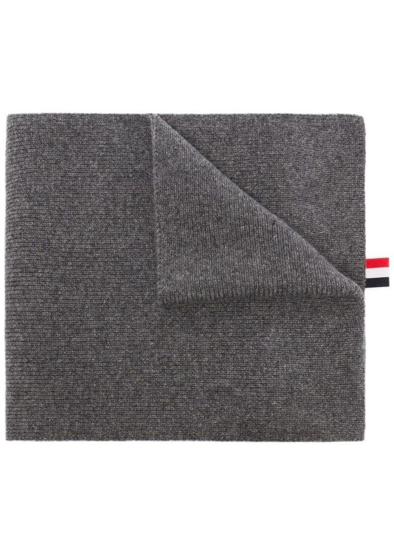 Thom Browne 4-Bar motif cashmere scarf