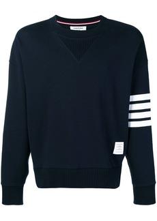 Thom Browne 4-Bar Oversized Sweatshirt