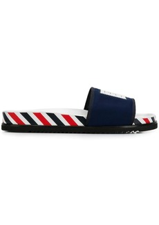 Thom Browne 4-bar Paper Label Airmail Pool Slide