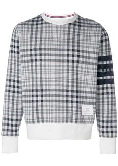 Thom Browne 4-Bar Prince Of Wales Sweatshirt