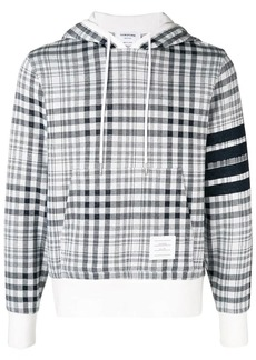 Thom Browne 4-Bar Shadow Prince Of Wales Hoodie