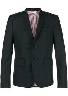 Thom Browne 4-Bar Silk High-Armhole Sport Coat