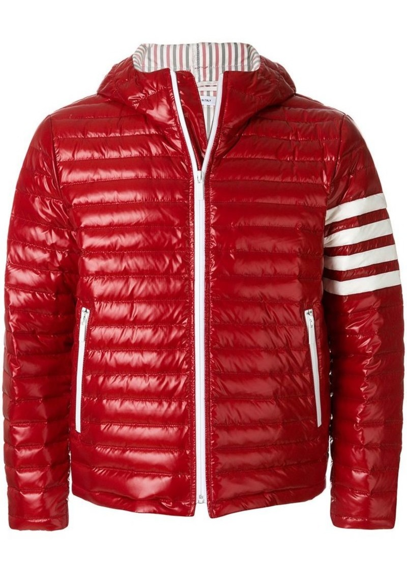 7cbe8b8556 4-Bar Stripe Satin Finish Quilted Down-Filled Tech Jacket. Thom Browne