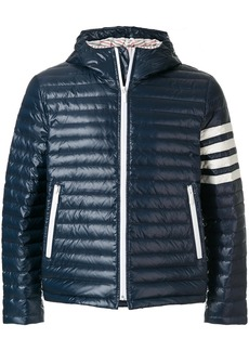 Thom Browne 4-Bar Stripe Satin Finish Quilted Down-Filled Tech Jacket