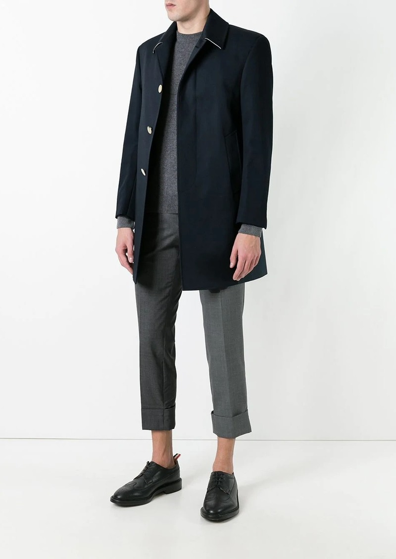 Thom Browne Bal Collar Mackintosh Overcoat