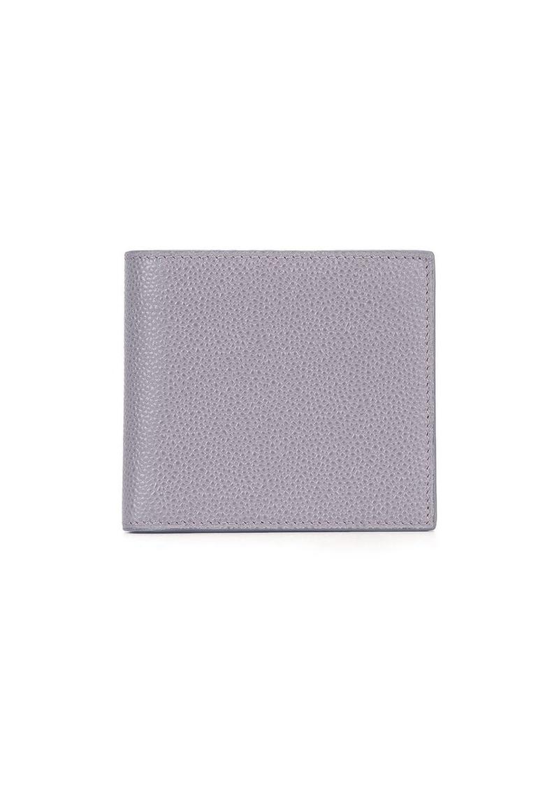 Thom Browne Billfold Wallet In Grey Pebble Grain