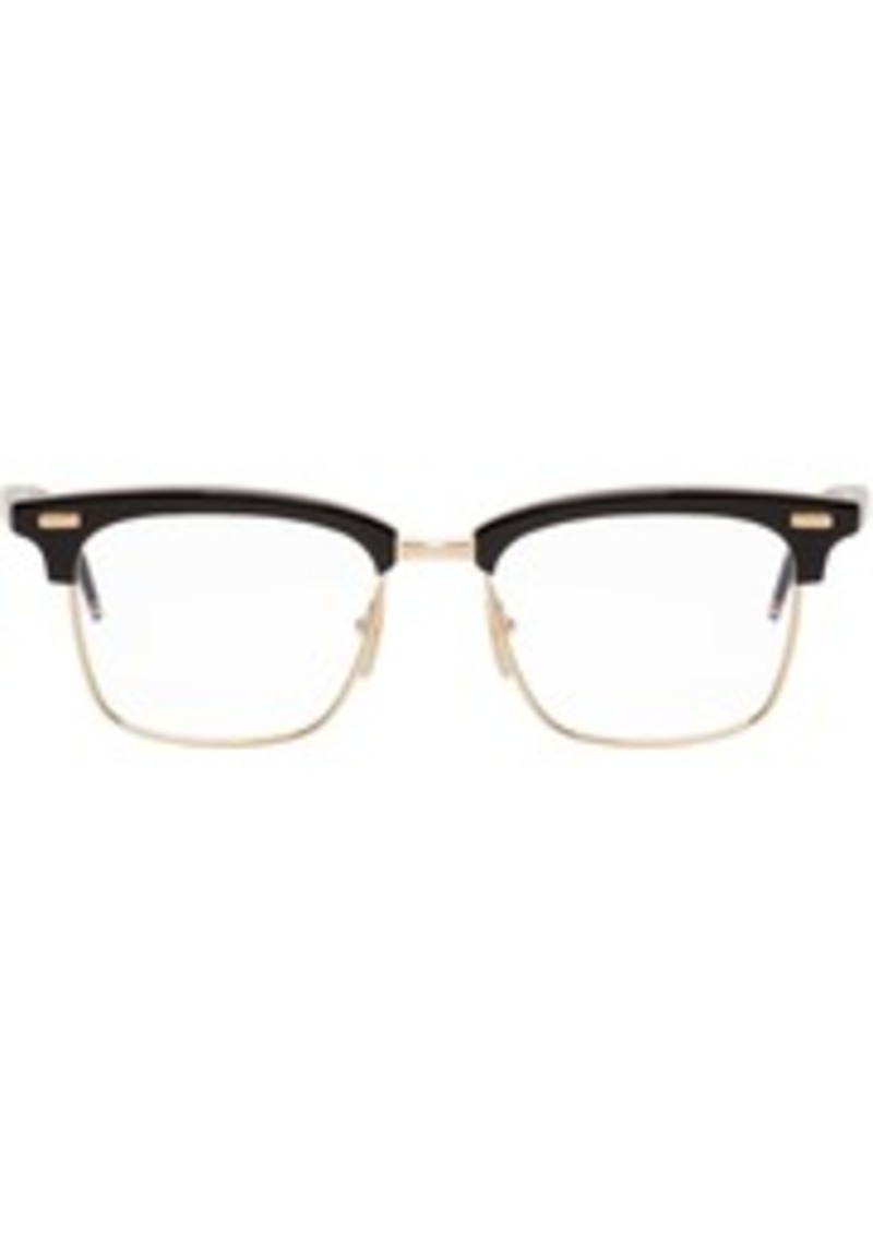 Thom Browne Black & Gold TB-711 Glasses