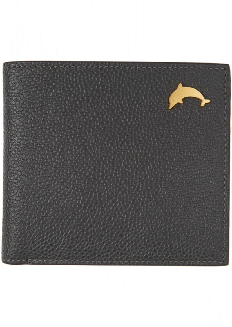 Thom Browne Black Dolphin Billfold Wallet