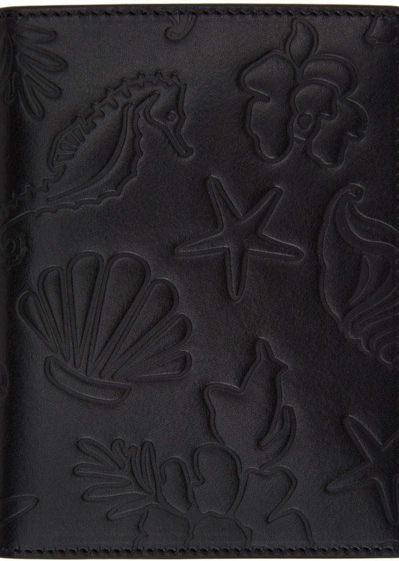 Thom Browne Black Embossed Sea Icon Passport Holder