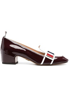 Thom Browne block-heeled loafers with logo enamel detail