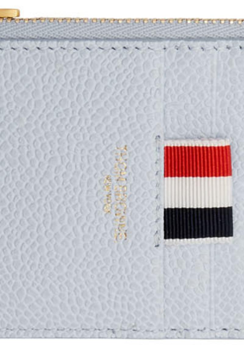 Thom Browne Blue Half-Zip Around Wallet