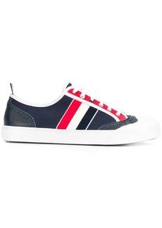 Thom Browne Canvas Broguing Low Top Sneakers