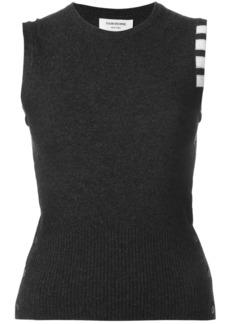 Thom Browne cashmere stripe detail top