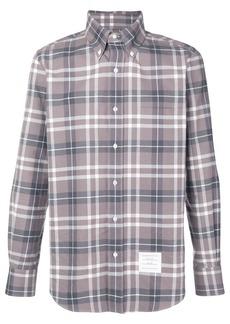 Thom Browne Center-back Stripe Tb Tartan Shirt