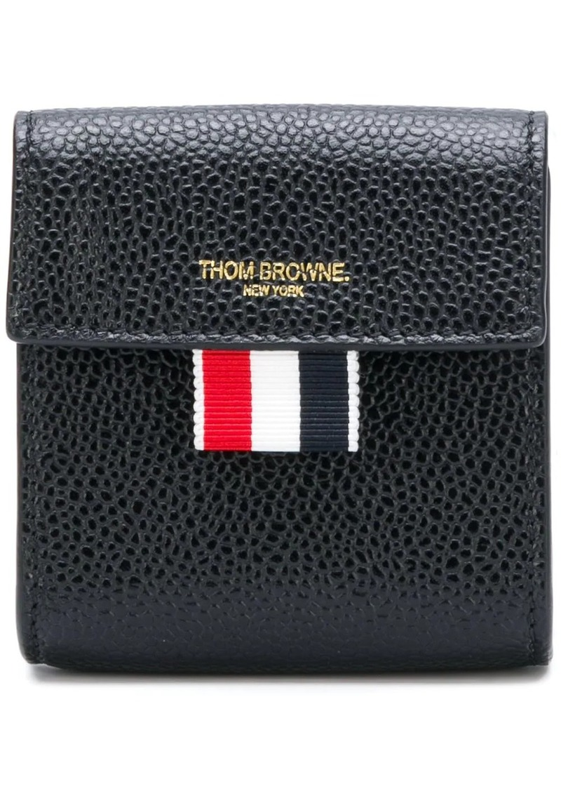 Thom Browne Clasped Leather Large Coin Case