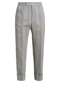 Thom Browne Classic Backstrap Houndstooth Cropped Trousers