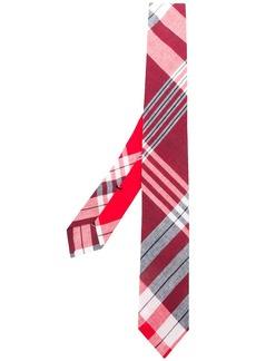 Thom Browne plaid Madras-print tie