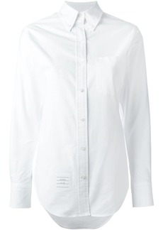 Thom Browne Classic Long Sleeve Button Down Point Collar Shirt In Oxford