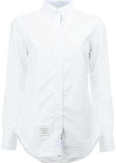 Thom Browne Classic Long Sleeve Button Down Shirt In White Oxford