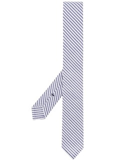 Thom Browne seersucker stripe tie