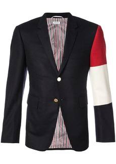 Thom Browne Classic Single Breasted Sport Coat With Three Panel Sleeve In Navy Cashmere