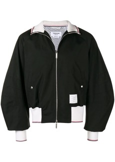 Thom Browne 4-Bar Sateen Stripe Blouson Jacket