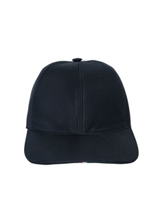 Thom Browne Cotton Twill Baseball Hat W/ Stripes