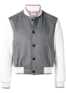 Thom Browne Embroidered Cashmere Blouson Jacket