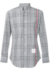 Thom Browne Engineered Stripe Classic Poplin Shirt In Prince Of Wales Check