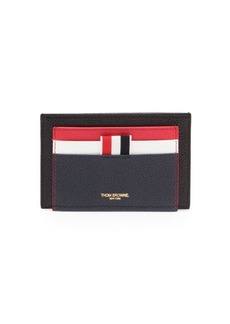 Thom Browne Fun Mix Leather Double Sided Card Holder