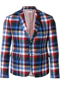 Thom Browne Gingham Tartan High-Armhole Sport Coat
