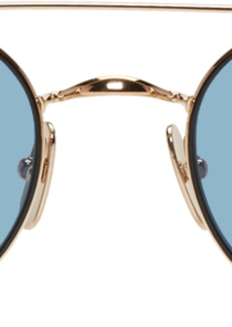 Thom Browne Gold & Black TB-101 Sunglasses
