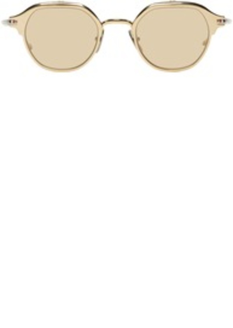 Thom Browne Gold & Silver TB-812 Flip-Up Sunglasses