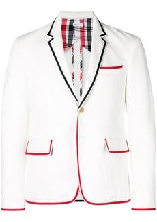 Thom Browne Grosgrain-Tipped High Armhole Denim Sport Coat