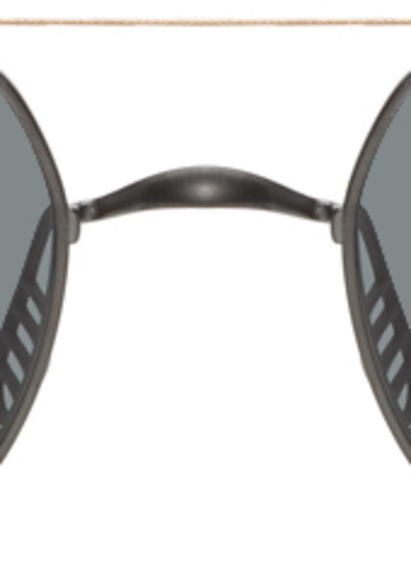Thom Browne Gunmetal & Gold TB-909 Sunglasses