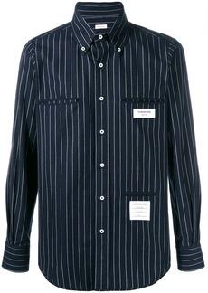 Thom Browne Inside-out Chalk Stripe Shirt