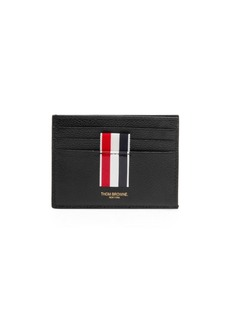Thom Browne Intarsia Stripe Leather Card Holder