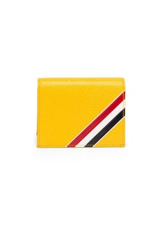 Thom Browne Leather Bi-Fold Card Holder
