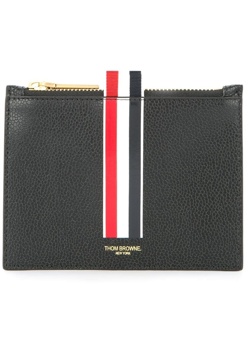 Thom Browne logo coin purse