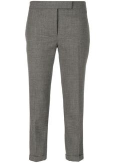 Thom Browne Lowrise Skinny Trousers In Medium Grey 2-Ply Wool Fresco