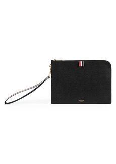 Thom Browne Medium Pebble Leather Wristlet