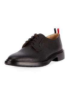 Thom Browne Men's Leather Blucher Dress Shoes with Winterized Rubber Sole