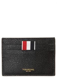 Men's Thom Browne Rwb Leather Card Holder - Black