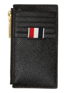 Men's Thom Browne Rwb Leather Zip Card Wallet - Black