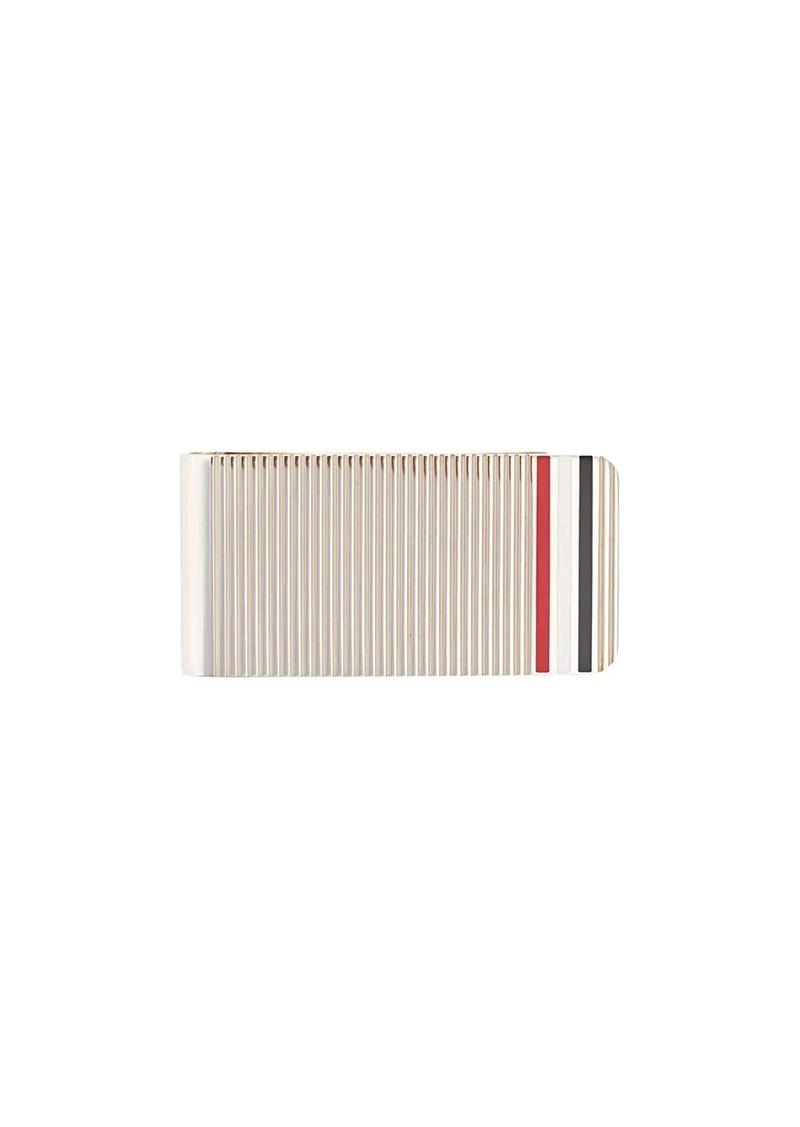 Thom Browne Money Clip Wallet In Silver