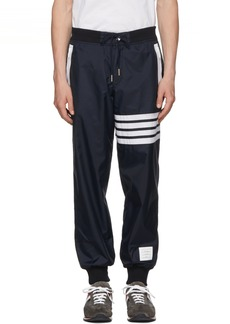 Thom Browne Navy Ripstop Lightweight Four Bar Lounge Pants