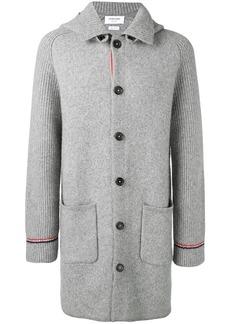 Thom Browne Overwashed Wool Blend Duffle Coat